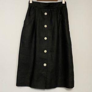 Vintage Valentino Linen High Waisted Skirt